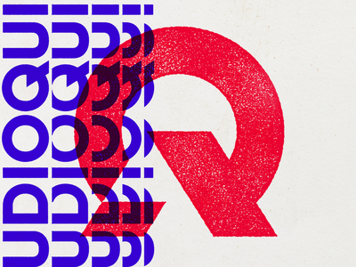 Audioquip brand badge circle q a logo