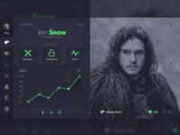 Game Of Thrones Social Media (Dark Theme)