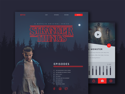 Stranger Things Responsive Design
