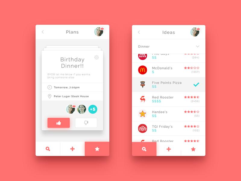 Event Planner fun social branding brand ux ui app mobile planning plan event
