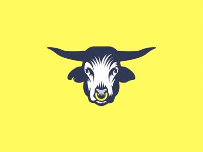 Bull Logo Concept cow animal mascot logo-design logo bull