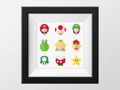 Mario Bros. character illustration