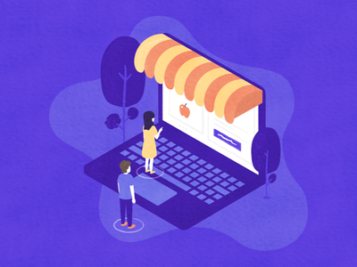 Selling Online hyper-local macbook store illustration sell online taptap