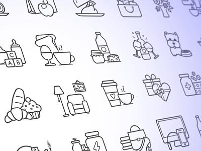Category Icons ui interface ui design illustration categories app icon icon design icon