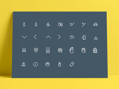 Icon Designs for Museum Wayfinding museum line icon icon icon set icon pack icons wayfinding