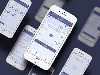 KuruKahve Fortune-Teller App Wireframes presentation ux purple wireframes android ios design app interface ui mobile wireframe