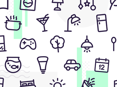 Home Automation Icon Set for HomeWizard icons set icons fun icons simple icons flat line icons line interface design vector branding illistration icon artwork icon