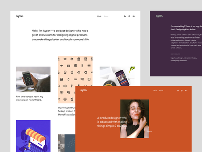 Personal Portfolio minimal simple clean interface simple flat portfolio site portfolio design portfolio icon illustration typography design ui interface