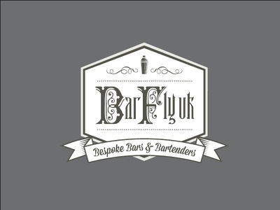 BarFly UK Bespoke Bars & Bartenders vintage bartenders logo print drink cocktail branding badge alcohol