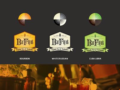 BarFly UK Bespoke Bars & Bartenders bartender bourbon vintage bartenders logo print drink cocktail branding alcohol