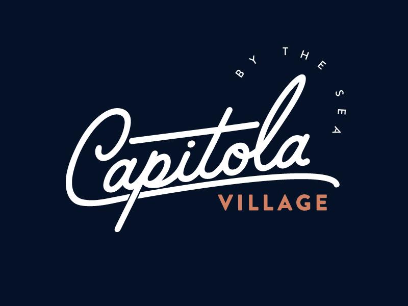 Capitola Village village logo trees ocean bridge badge capitola