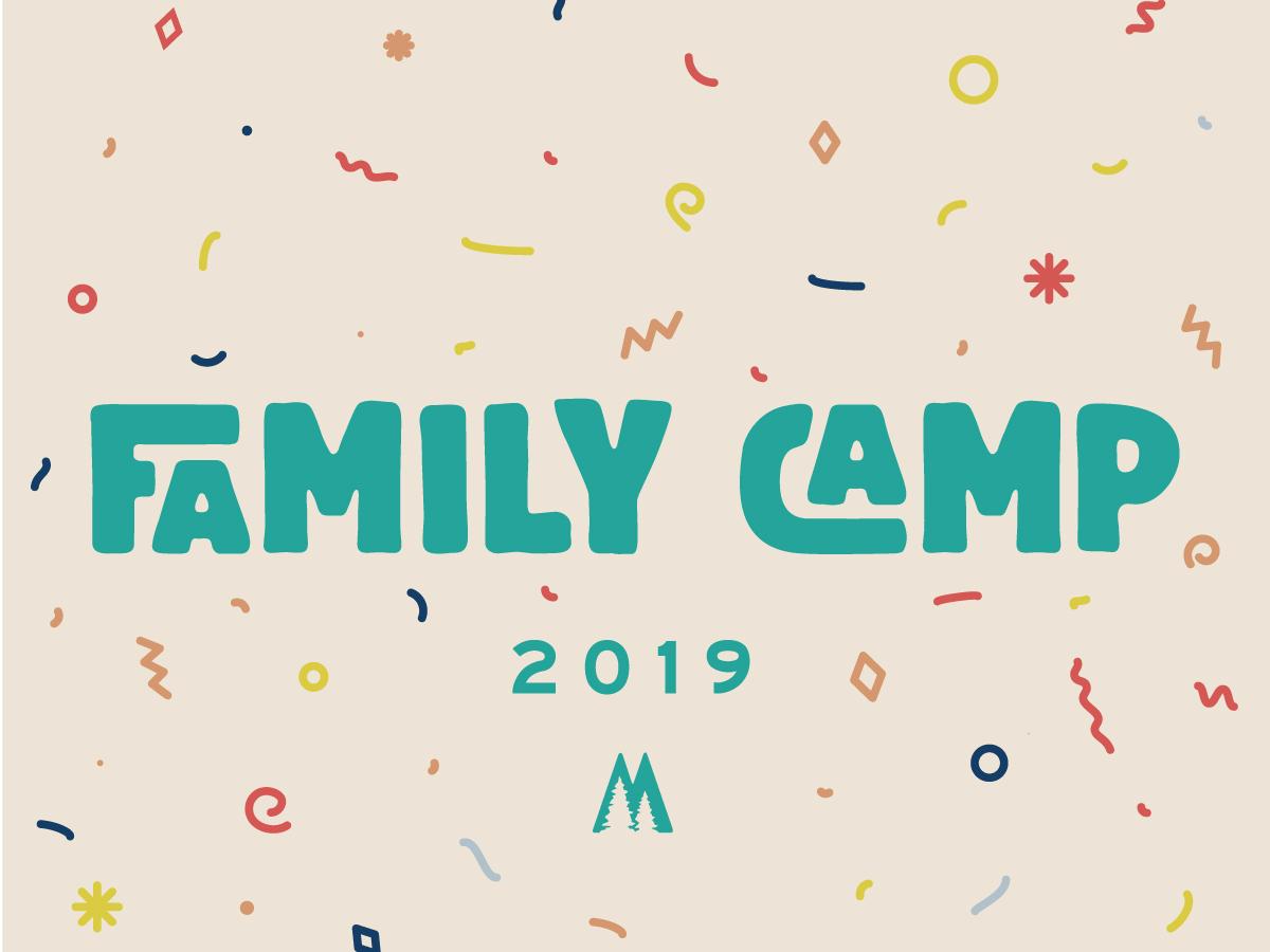 Family Camp branding confetti fun family camp