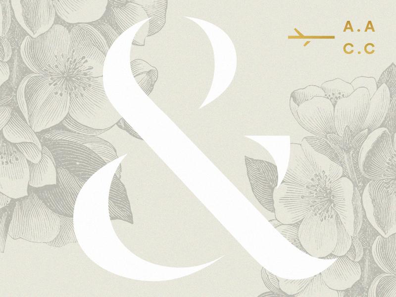 Wedding Bits stationery wedding print floral ampersand invitations
