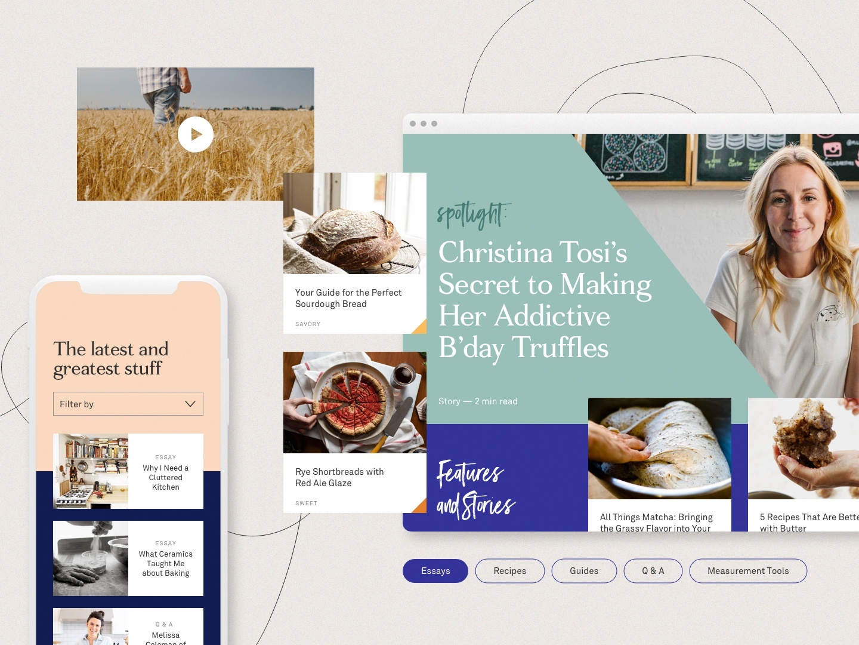 Baking Site Exploration interface mobile website web ui design digital branding typography