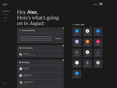 Dashboard Exploration dashboard design ui web digital typography
