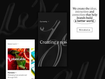 ZJ Mobile Stuff web design website ui web digital branding typography