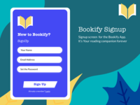 Bookify Signup screen