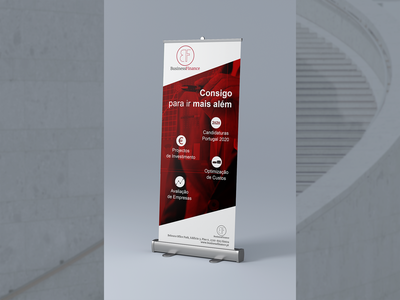Roll Up - Business Finance strong sober financial services business communication design brand design roll up banner rollup visual identity branding design brand identity graphic design