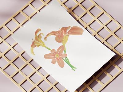 Lily illustration flower botanical illustration procreate art lily design illustrator procreate digital illustration illustration