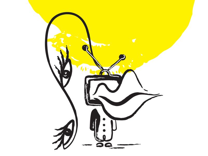 Absurd Illustration [absurd.design] buy now madebyabsurd handdrawn absurd black minimalist illustration vector