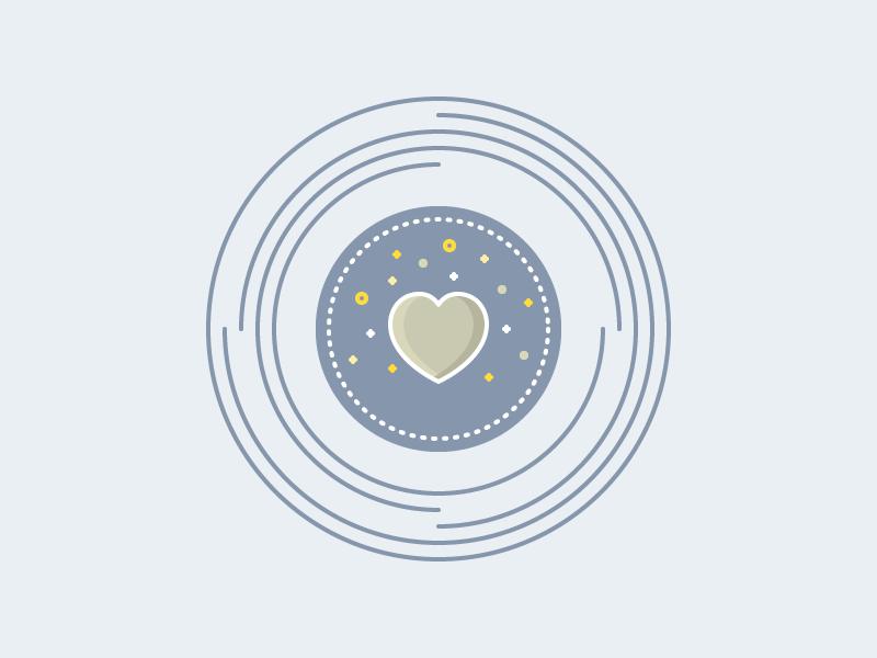 Heart Icon love heart color infographic vector icon