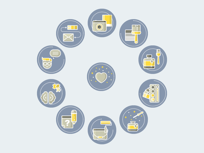 Icons color infographic vector icon