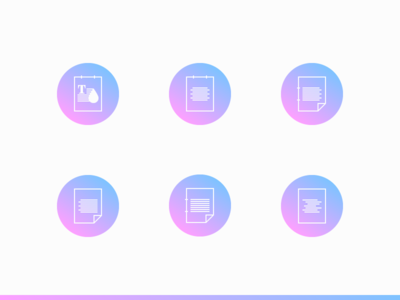 Text Icons alignment text minimalist outline gradient infographic icon