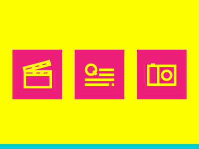 Email Newsletter - Infografic Icons pt. 1 camera image text action video outline infographic icon
