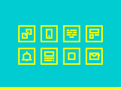 Email Newsletter - Infografic Icons pt. 2 call text link mobile email outline infographic icon