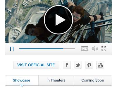 Website Components ui social facebook twitter pinterest youtube button video play button sound hd fullscreen