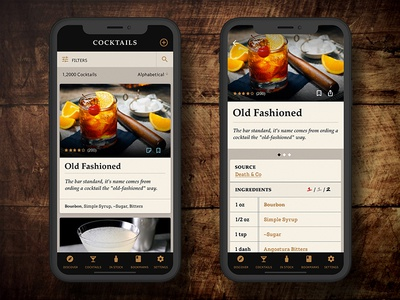 Cocktail Catalogue cocktail ingredients recipe app mobile