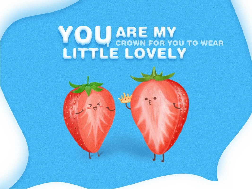 The lovely strawberries icon hand drawing design illustration strawberry