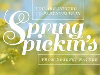 Spring Pickin's