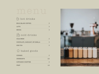 Covfefe Haus Menu list clean earthy restaurant menu covfefe coffee