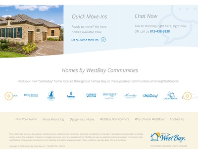 Homes by Westbay - Promo Area + Footer