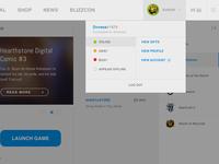 Battlenet App - Light Concept Dropdown