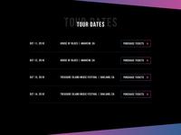 BTW - Tour Dates