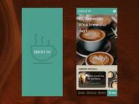 Covfefe Haus App - Loading & Home Screen