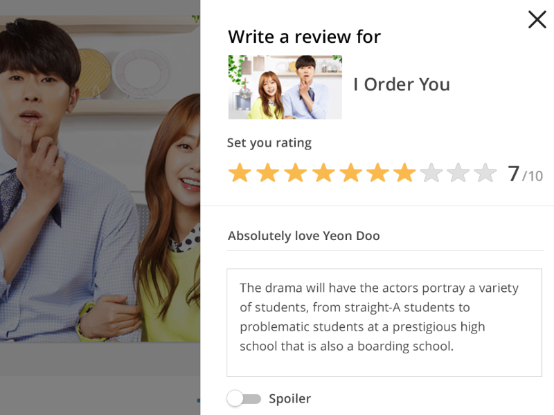 Rating & Reviews on Web write rated stars rakuten viki show video rate reviews rating made with invision