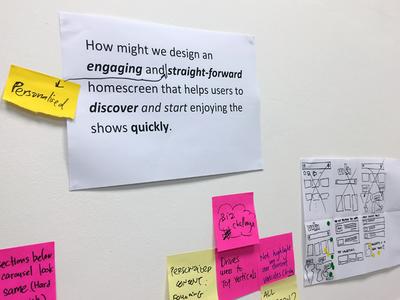 Design Sprint for Viki Homescreen sprint process google venture design thinking gv ideo brainstorm dschool