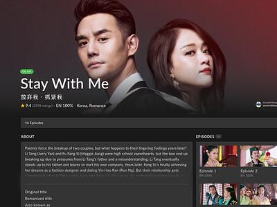 Show Page  watch drama video ux tv viki
