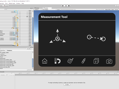 Control Pad in Unity3D (WIP) bim virtual reality canvas plane control panel menu unity3d vr