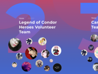 Shout out to the volunteer teams