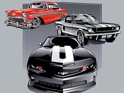 Car Show Illustration
