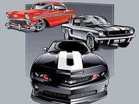 Car Show Illustration