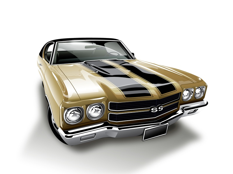 1970 Chevelle SS Illustration automotive adobe illustrator illustration muscle car
