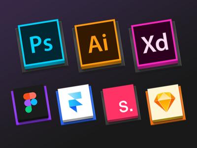 Design Tools Square Icns Sets