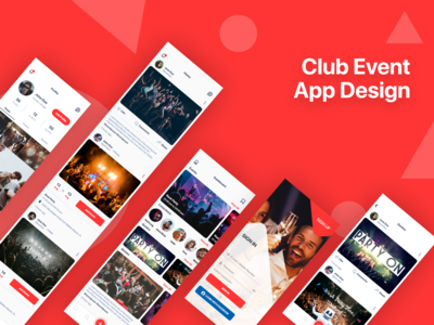 Club Event App Design