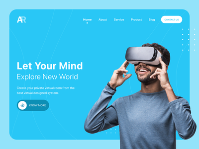 Ar landing page header web website concept ar vr design art web design webdesign website mobile mobile app design uiux design iphonex ux ui