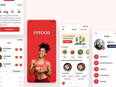 FitFood Mobile App UI order online fitness food fitfood fitness design fit design fitness mobile app design design iphonex uiux ux ui